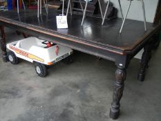An old oak table.