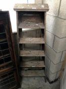A wooden step ladder