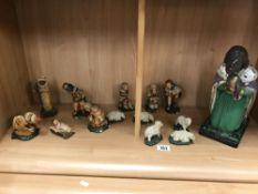 Old Nativity plaster figures etc.