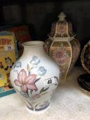A German vase & a lidded jar