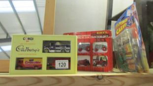2 die cast sets and a model kit.
