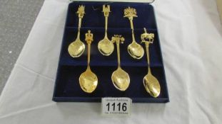 A cased set of 6 'The Queen's Golden Jubilee' collector's spoons.