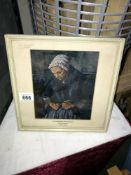 A picture of Woman with Rosary picture by Cezanne