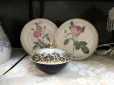 2 Hatchenreuther plates & a Hutchenreuther lidded bowl