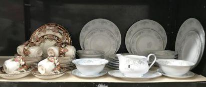 A 24 piece Noritake 'Iteland' & a Royal Windsor 32 piece vintage bone china tea set