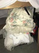 A quantity of bed linen