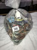 A large bag of costume jewellery