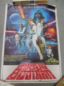 A Star Wars poster and a quantity of Star Wars related items including ephemera,