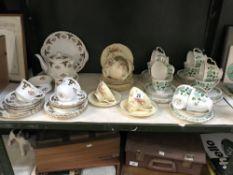 An 18 piece Royal Stafford 'Balmoral' tea ware (2 cups) & a 17 piece 'Florentine' tea set & 33