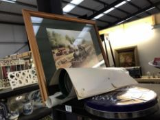 A selection of train pictures - framed and unframed