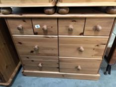 A pine 8 drawer chest