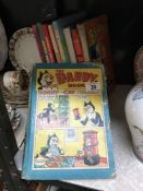 A quantity of annuals including Dandy, Beano & Victor etc.