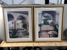 A pair of framed & glazed architectural prints