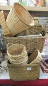 A mixed lot of basket ware.
