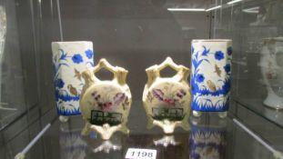 2 pairs of oriental vases.