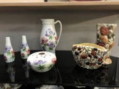 A selection of Radford & Sylvac pottery
