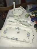 A quantity of Crown Staffordshire Bluebell china etc.
