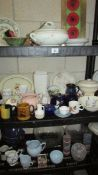 A large quantity of assorted tea ware and kitchen ware.