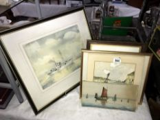 A quantity of watercolours