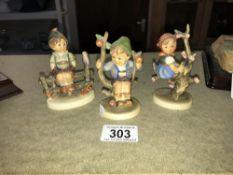 3 Goebel figures