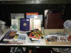 A quantity of books & cigarette card albums