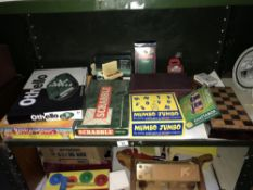 A mixed lot of games including Othello & Scrabble etc.