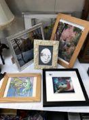 6 framed & glazed pictures