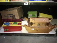 A wooden Noah's Ark & other toys