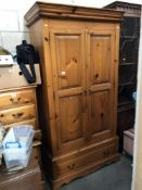 A pine wardrobe
