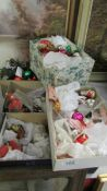 A mixed lot of vintage Christmas decorations.