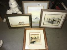 A selection of good framed watercolours