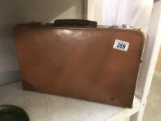 A vintage Victor luggage suitcase