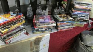 A mixed lot of DVD's.