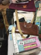 A selection of old handbags