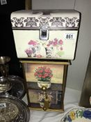 A painted 2 drawer chest,