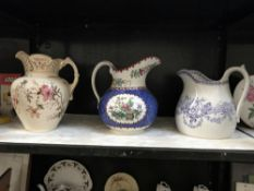 A large Copeland Spode jug & 2 others