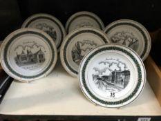 6 scenes of Newark on Trent collectors plates