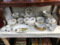 A selection of Royal Worcester Evesham dinnerware