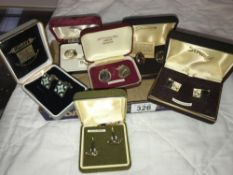 A mixed lot of good quality cufflinks
