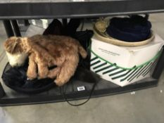 A selection of furs and old hats