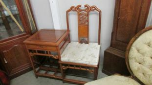 A good quality Chinese style telephone seat.