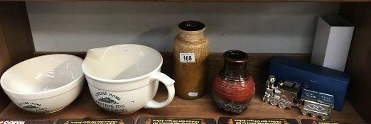 2 West Germany vases,