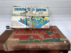 A mousetrap game & table soccer