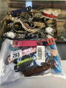 A large quantity of gents watches & some ladies & good selection of straps