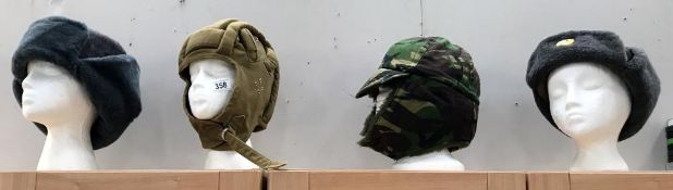 A Russian hat & 3 others (heads not included)