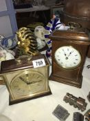 A selection of mantel clocks in working order