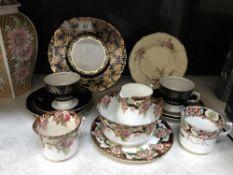 16 pieces of assorted tea ware