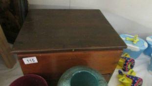 A mahogany box.