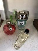 A Paco Robanne invictus 70% full, Paul Smith eau de parfum (lid A/F) 70%, Ysl Paris 60%,