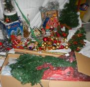 A good lot of Christmas decorations.